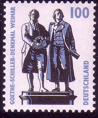 1934A Sehenswürdigkeiten 100 Pf Goethe-Schiller-Denkmal Weimar, ** 0