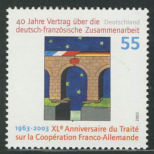 2311I Deutsch-französiche Zusammenarbeit mit Rastertype I,  ** 0