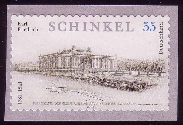 2552 Karl Friedrich Schinkel SELBSTKLEBEND aus Rolle, ** 0