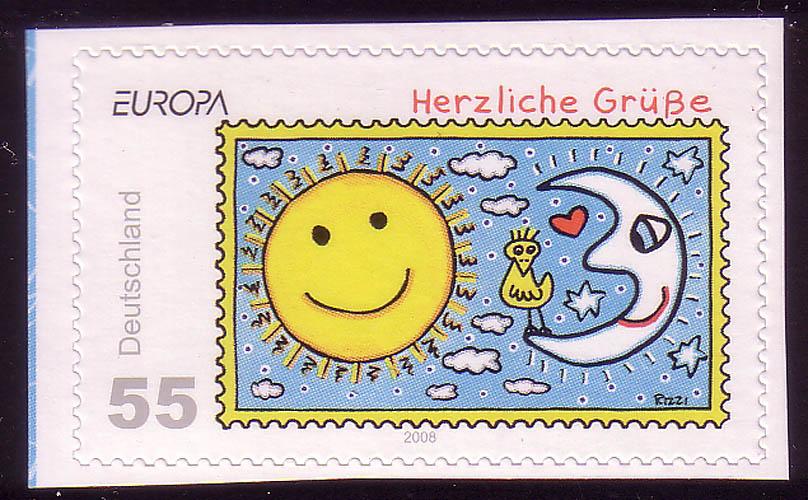 2665 Europa/CEPT SELBSTKLEBEND aus MH 73 Rizzi Herzliche Grüße, ** 0