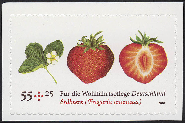 2777I Erdbeere SELBSTKLEBEND mit Erdbeerduft aus MH 81, ** 0