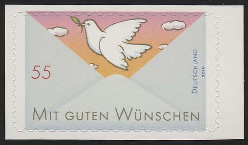 2827 Grußmarke Taube SELBSTKLEBEND aus Folienblatt 12 ** 0