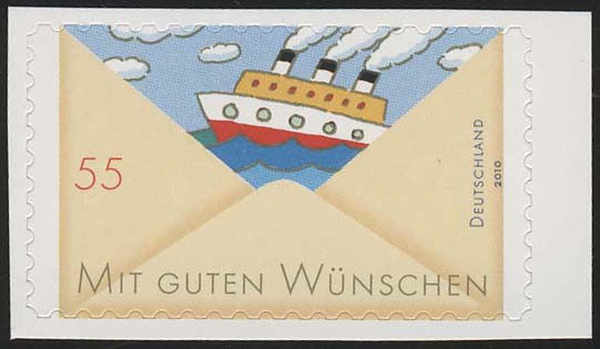 2848 Grußmarke: Schiff SELBSTKLEBEND aus Folienblatt 13, ** 0