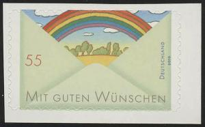 2849 Grußmarke: Regenbogen SELBSTKLEBEND aus Folienblatt 13, **