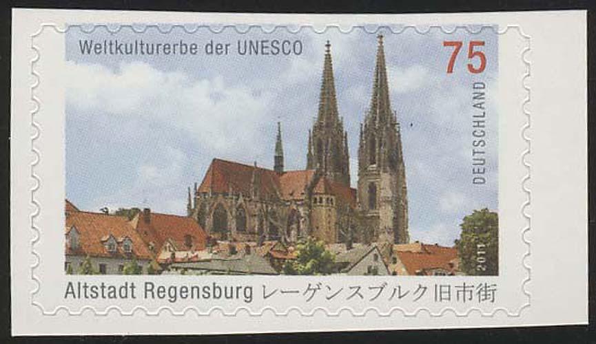 2850 UNESCO Regensburg SELBSTKLEBEND aus Folienblatt 14, ** 0