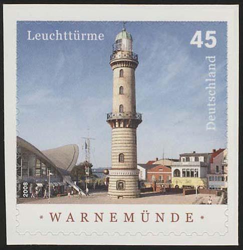 2876 Leuchtturm Warnemünde SELBSTKLEBEND aus MH 86, ** 0