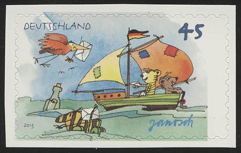 2995 Janosch: Segelboot, SELBSTKLEBEND aus Folienblatt 27, ** 0