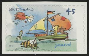 2995 Janosch: Segelboot, SELBSTKLEBEND aus Folienblatt 27, **