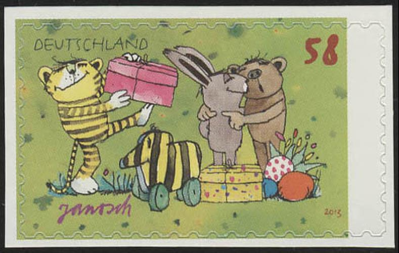 2996 Janosch: Ostern, SELBSTKLEBEND aus Folienblatt 28, ** 0