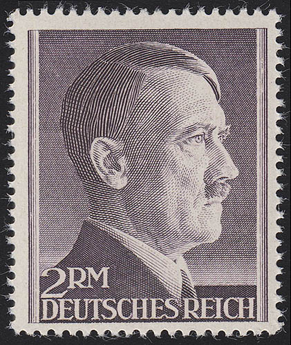 800B Hitler 2 Reichsmark ** ENG gezähnt 0