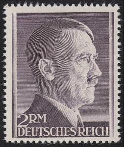 800B Hitler 2 Reichsmark ** ENG gezähnt