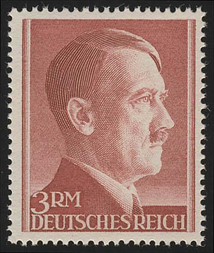 801B Hitler 3 Reichsmark ** ENG gezähnt 0