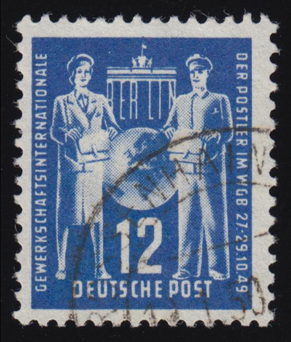 243 Gewerkschaftsvereinigung der Post 12 Pf O 0