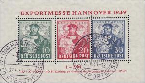 Block 1 Hannover Messe mit Messe SST Allg. Exportmesse, geprüft Schlegel BPP