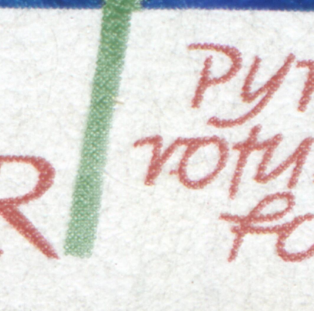 1568 Pflanzen 70 Pf mit PLF roter Strich links am o von rotundi, Feld 19 ** 0