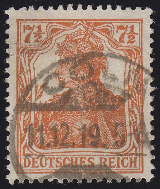 99b Germania 7 1/2 Pf O 0