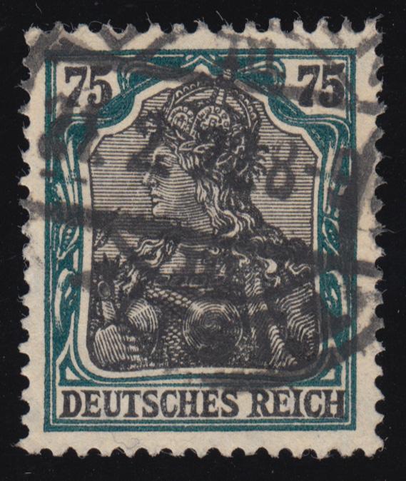 104a Germania 75 Pf O 0
