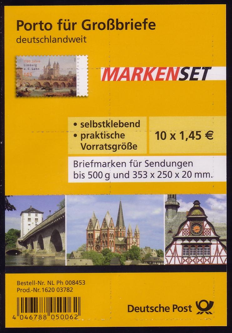 FB 6a Limburg, Folienblatt 10x2778 Nr. 162003782 ** 0