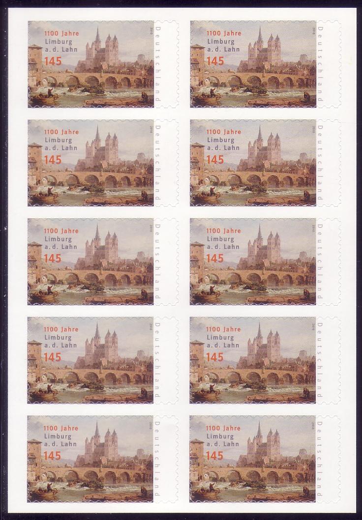 FB 6a Limburg, Folienblatt 10x2778 Nr. 162003782 ** 1