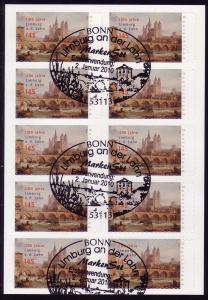 FB 6a Limburg, Folienblatt 10x2778 Nr. 162003782 Erstverwendungsstempel BONN