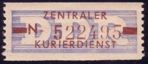 20-N-III-Neudruck Dienst-B, Abart III Balken links dünn - rechts dick, Billet **