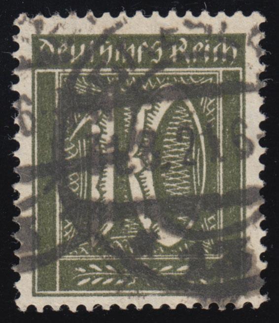 159a Freimarke Ziffer 10 Pf Wz 1 gestempelt O geprüft 0