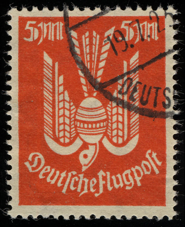 263 Flugpostmarken Holztaube 5 Mark gestempelt O geprüft 0