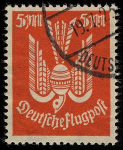 263 Flugpostmarken Holztaube 5 Mark gestempelt O geprüft