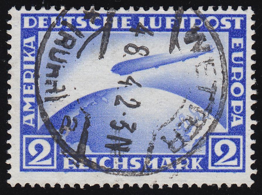 423 Luftschiff Graf Zeppelin 2 RM O gestempelt 0
