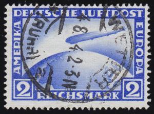 423 Luftschiff Graf Zeppelin 2 RM O gestempelt