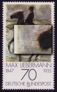 987I Liebermann: blauer Fleck vor Pferdekopf,  Feld 10, **