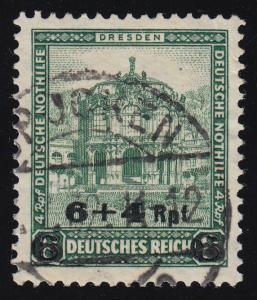 463 Deutsche Nothilfe Bauwerke 6+4 Rpf auf 8+4 Pf O