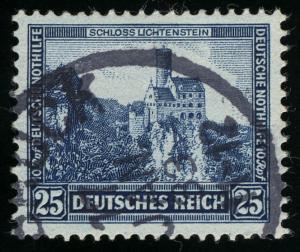 477 Nothilfe Burgen und Schlösser 25+10 Rpf gestempelt O