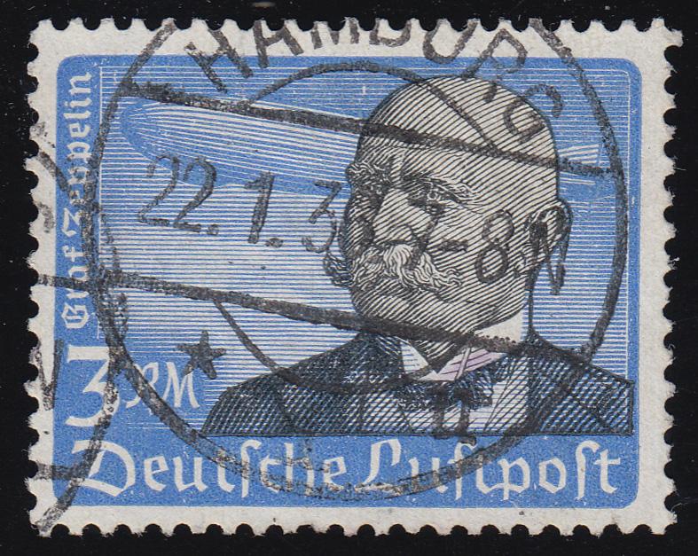539x Flugpostmarke 1934 3 RM O gestempelt 0