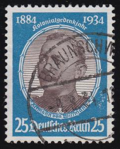 543y Kolonialforscher 25 Pf O