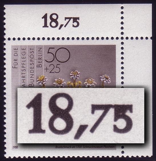 818 Wofa 50 Pf. - verkleckster Reihenwertzähler, ** 0