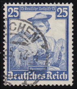 595 Nothilfe Volkstrachten Oberbayern 25 Pf O