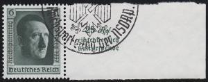 650 Marke mit Aufdruck Reichsparteitag aus Block 11 O