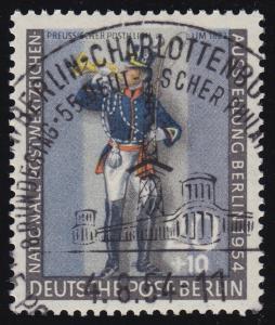 120a Nationale Postwertzeichen Ausstellung Postillion O geprüft