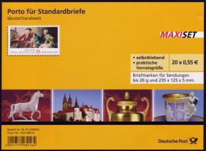 FB 11a Porzellan 2010, Folienblatt 20x2816 Nr. 1523 08416, **