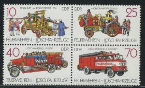 3101-3104 Feuerwehr-Viererblock 1987, postfrisch