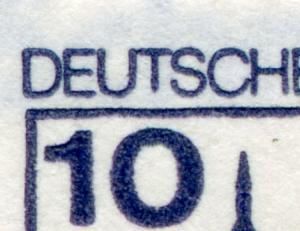 22IadK2 MH BuS 1980 Buchdruck - PLF XXIII kurzes T und Rahmenkerbe, **