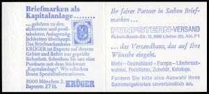 22Ia MH BuS 1980 Buchdruck Variante b - mit ZB,**