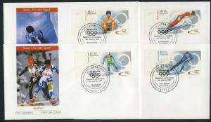 2237-2240a Sporthilfe aus Kleinbogen 2002, FDC ESSt Bonn