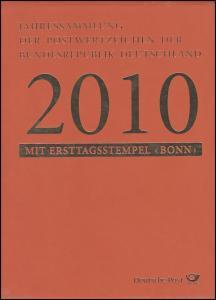 Jahressammlung Bund 2010 mit Ersttagssonderstempel