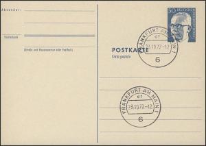 P 85a - Heinemann 50 Pf, rahmfarben, VS-O Frankfurt/M.