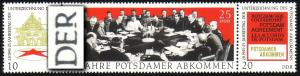 1598-1600 Potsdam 1970 als Zusammendruck mit PLF 1598 gebrochenes R, Feld 1, **