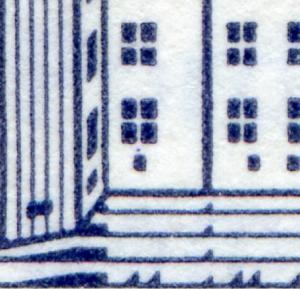 22Ih MH BuS Buchdruck mit PLF VII Kellerfenster-Punkt ** postfrisch
