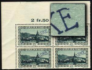 Dienstmarke 25XI Aufdruckmarke 25 C - ER-Vbl. oben links mit PLF XI, **