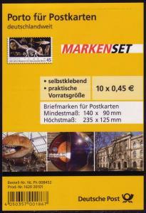 FB 5b Museum Berlin, Folienblatt 10x2780 Nr. 1620 20101, **